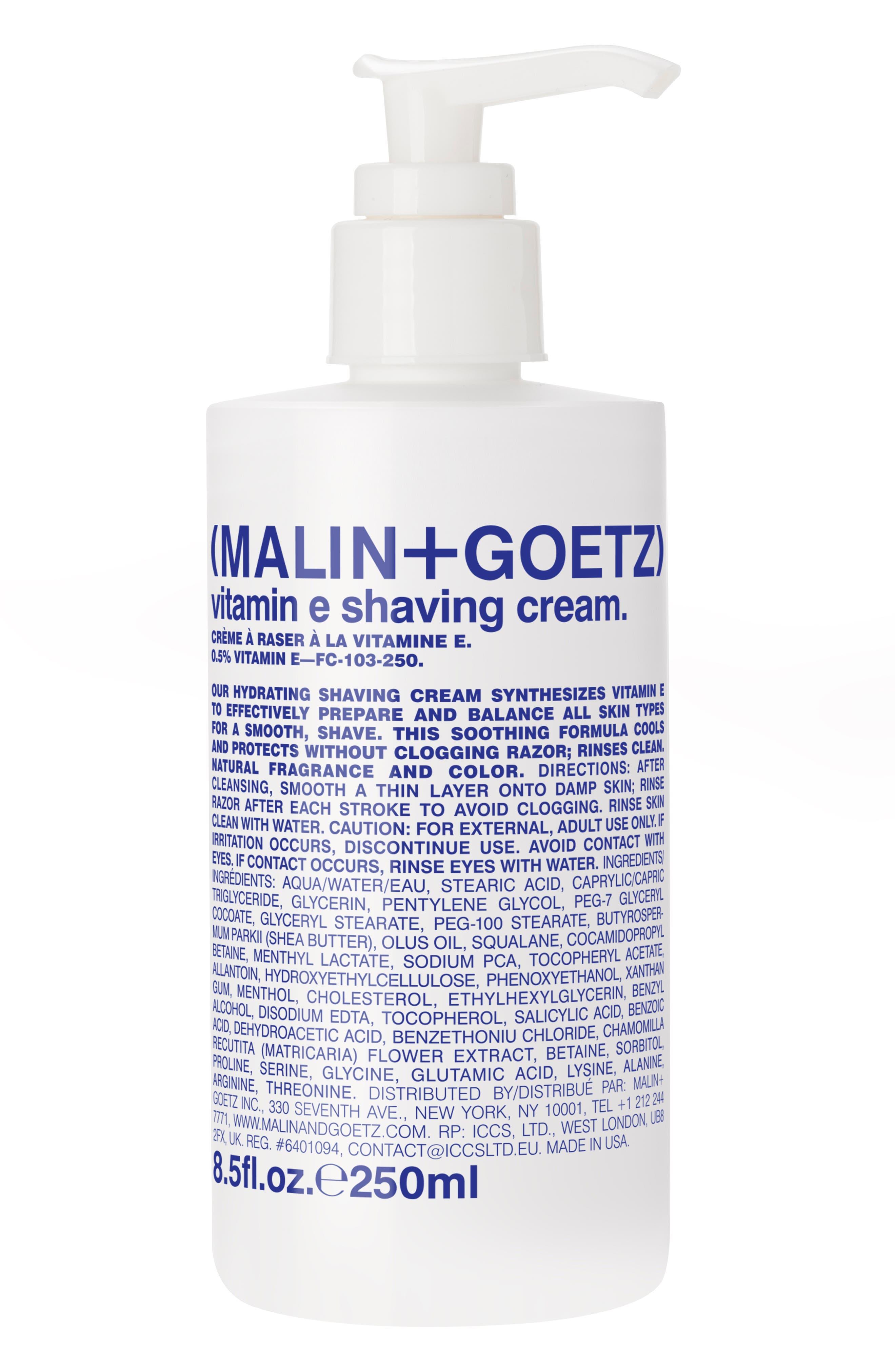 Malin+Goetz Vitamin E Shaving Cream Pump