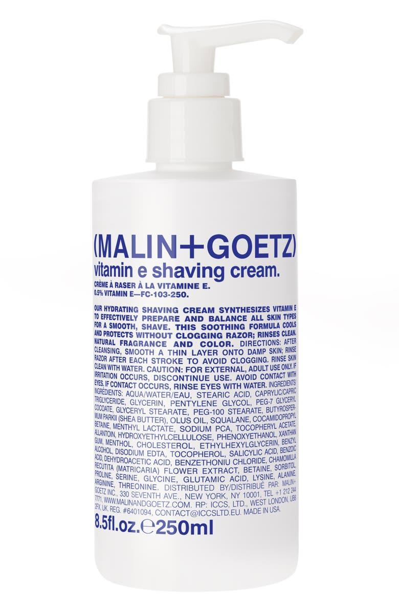 MALIN+GOETZ Vitamin E Shaving Cream Pump, Main, color, NO COLOR