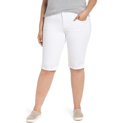 Plus Size Wit & Wisdom Ab-Solution Bermuda Shorts, White (Optic White) (Nordstrom Exclusive)