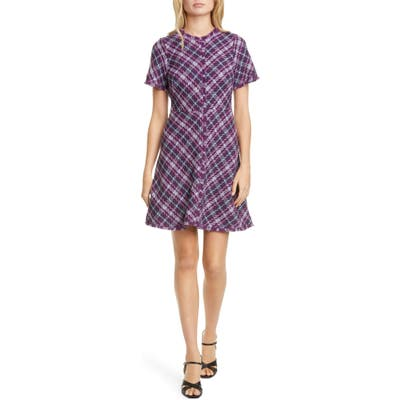 Kate Spade New York Plaid Tweed Dress, Purple