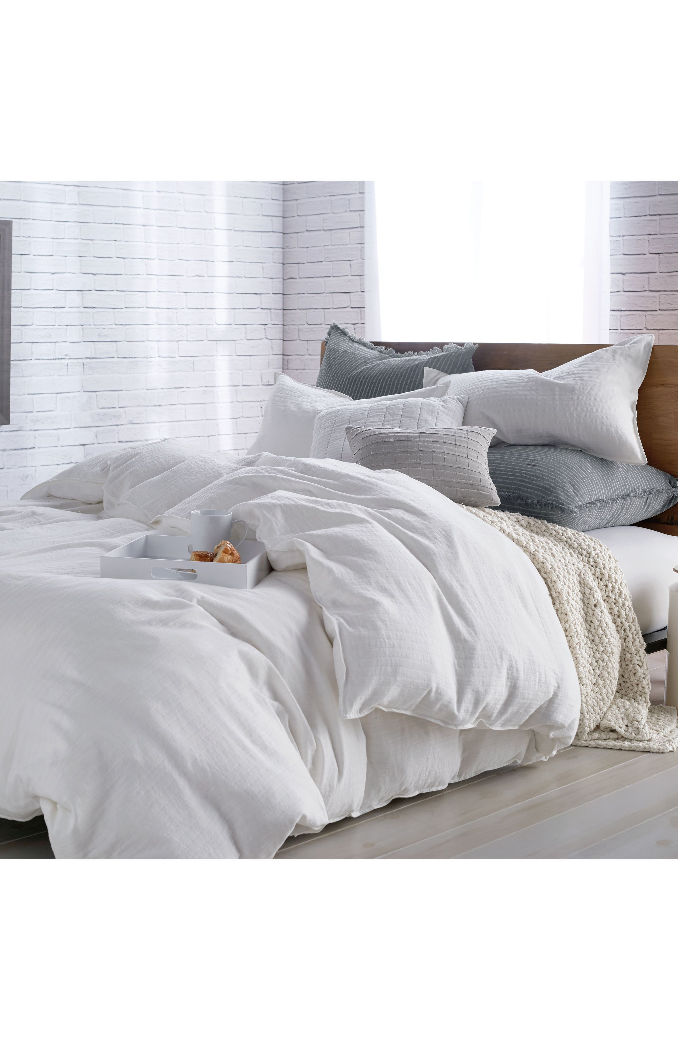 PURE Comfy White Duvet Cover, Main, color, WHITE