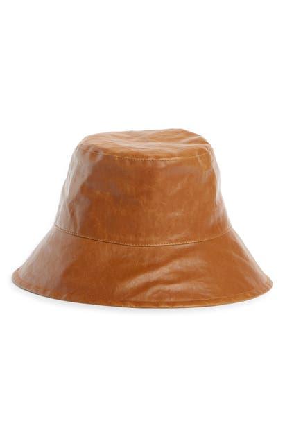 Isabel Marant Sunhats LOIENA WAXED LINEN BUCKET HAT