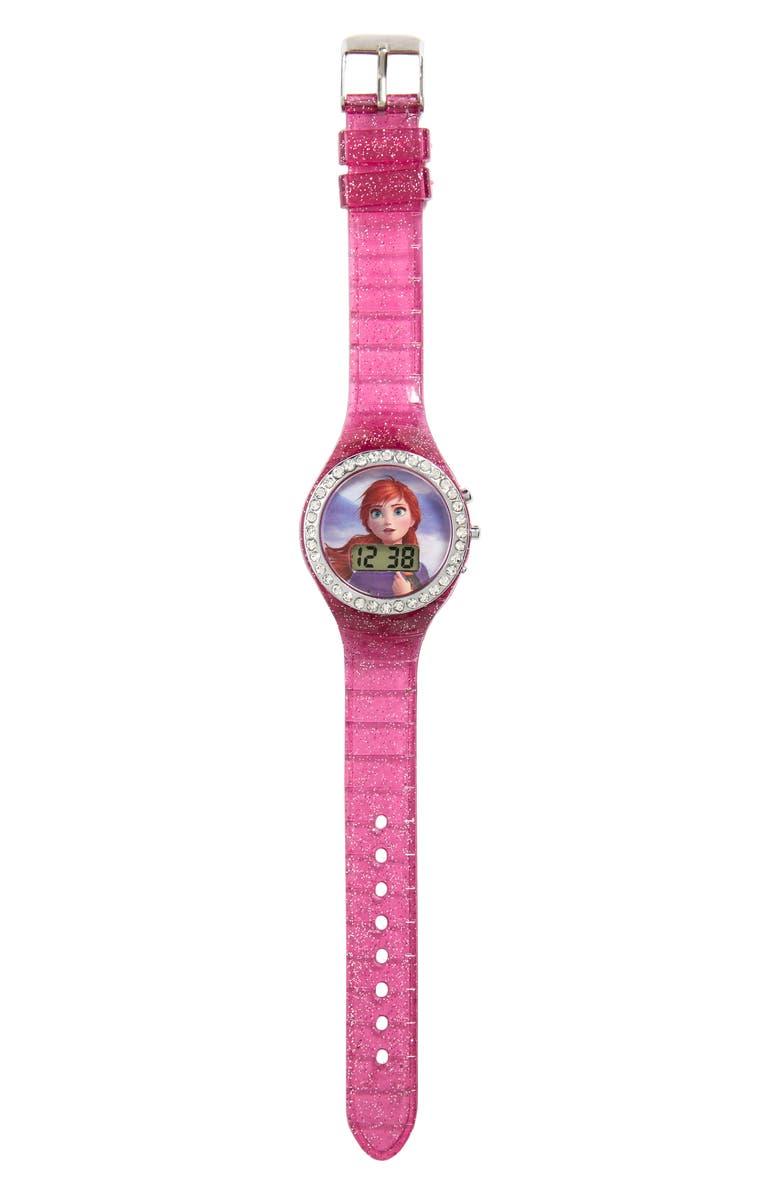 ACCUTIME Disney 'Frozen' Glitter Digital Watch, Main, color, 500