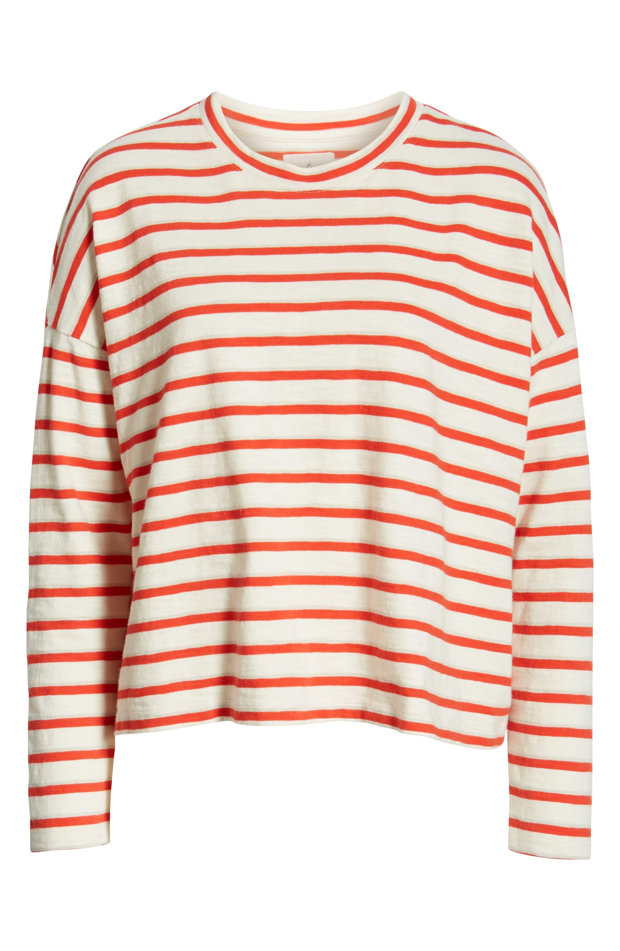 ,                             Bonnie Stripe Cotton Top,                             Alternate thumbnail 6, color,                             600