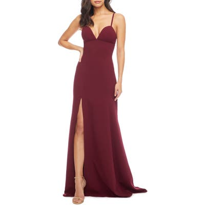 Dress The Population Alejandra Crepe Evening Gown, Red