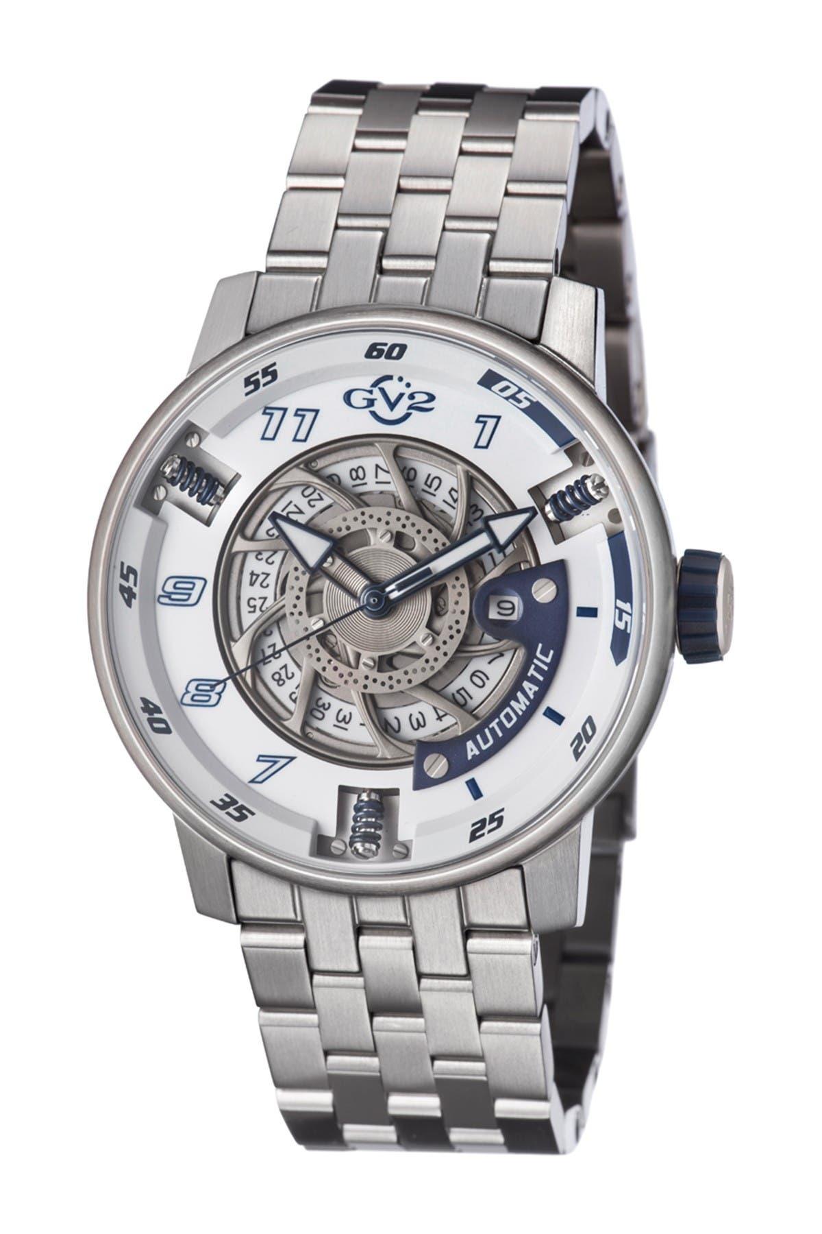 Image of Gevril Men's Motorcycle Sport Bracelet Watch, 48mm
