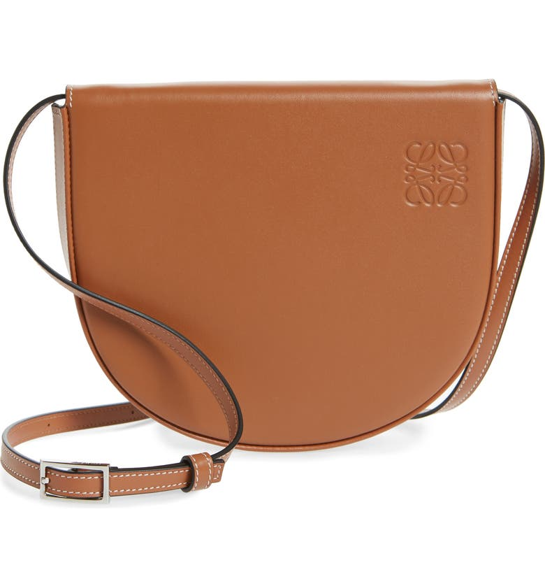 LOEWE Mini Heel Leather Bag, Main, color, TAN
