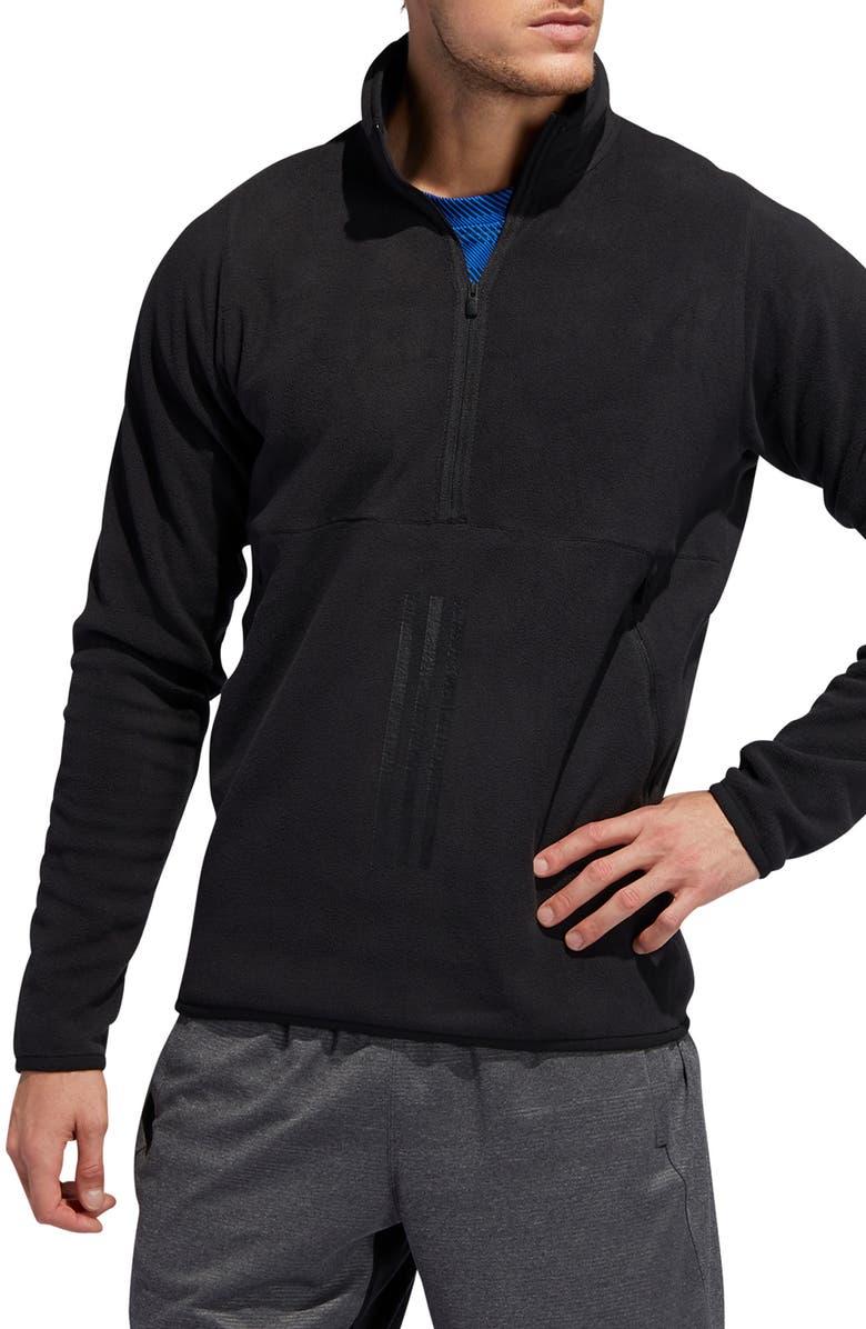 ADIDAS Polar Fleece Half-Zip Pullover, Main, color, 001