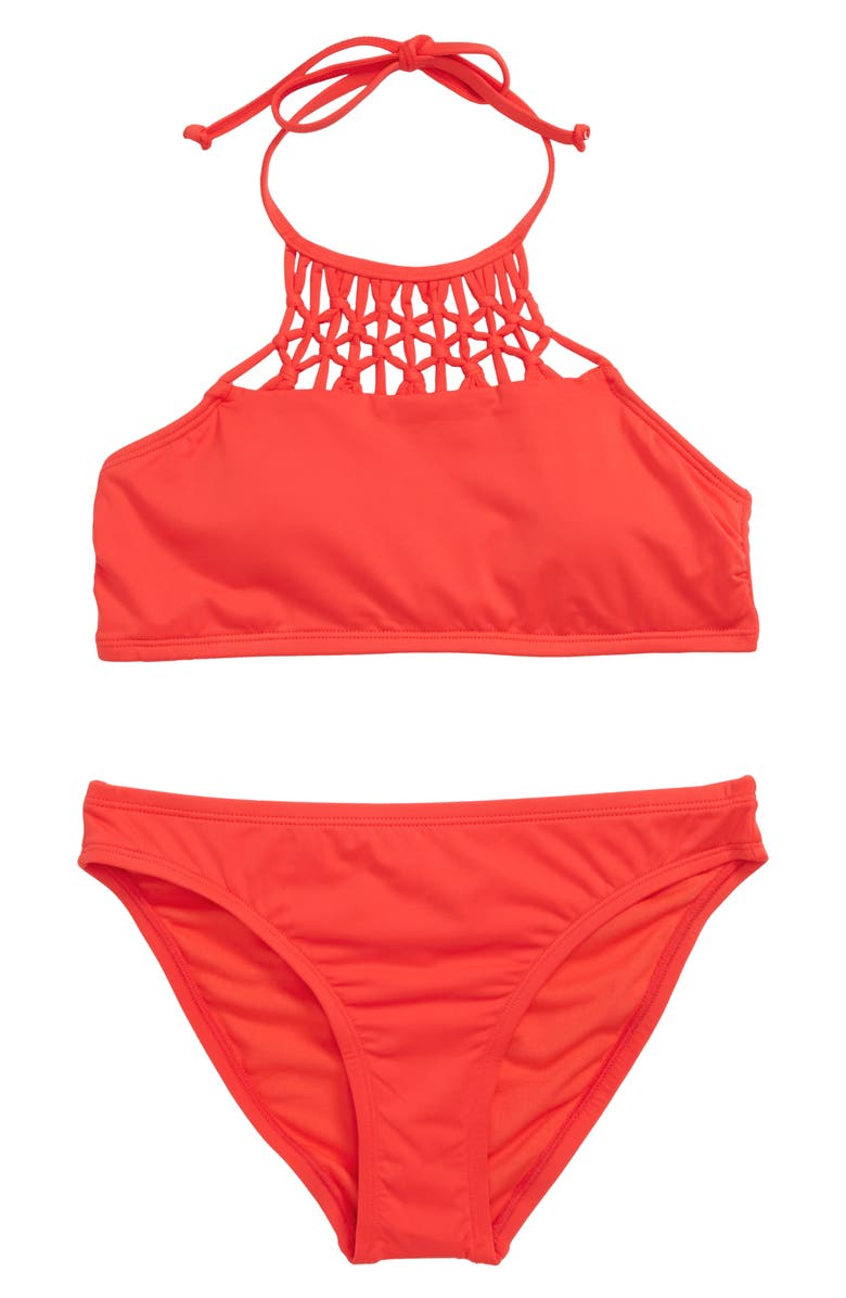 HOBIE High Neck Two-Piece Swimsuit, Main, color, 611