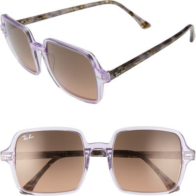 Ray-Ban 5m Square Sunglasses - Violet/ Brown Gradient Black