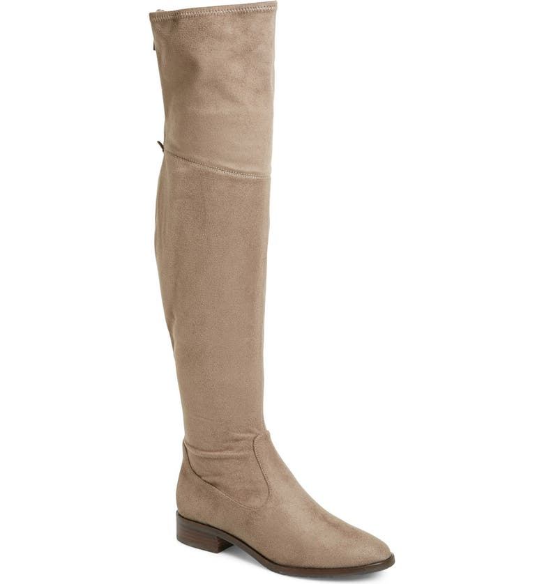 IVANKA TRUMP 'Livi' Faux Suede Over the Knee Boot, Main, color, 250