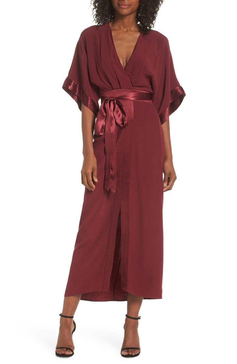 ADELYN RAE Melinda Kimono Midi Dress, Main, color, 604