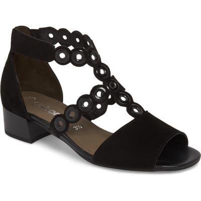 Gabor T-Strap Sandal, Black