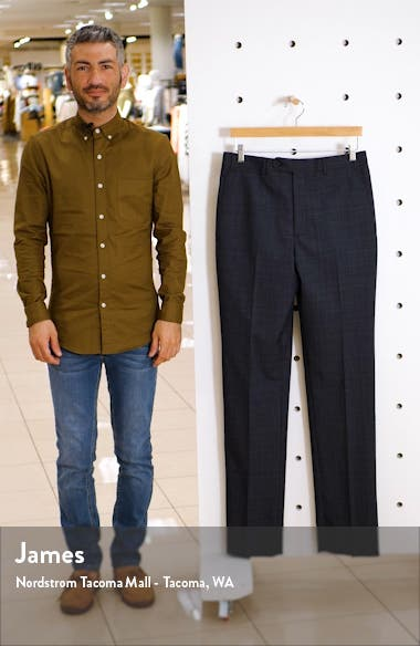 Flat Front Plaid Wool Dress Pants, sales video thumbnail