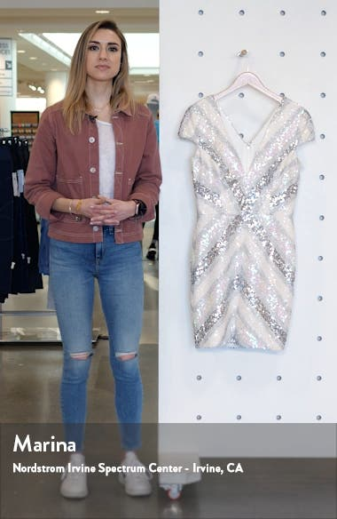 Zoe Sequin Embellished Sheath, sales video thumbnail