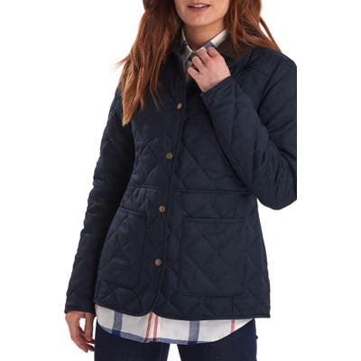 Barbour Helvellyn Quilted Jacket, US / 8 UK - Blue