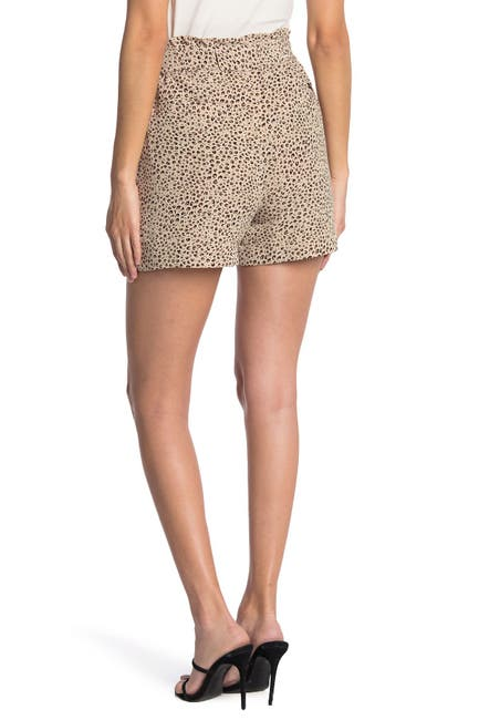 Image of Sanctuary Leopard Print Paperbag Shorts