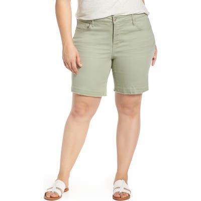 Plus Size Seven7 Weekend Bermuda Shorts, Grey