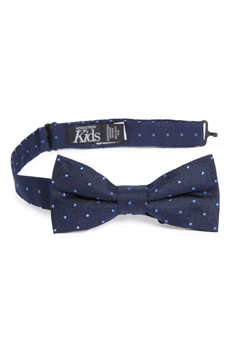 NORDSTROM Roberto Dot Silk Bow Tie, Main, color, BLUE