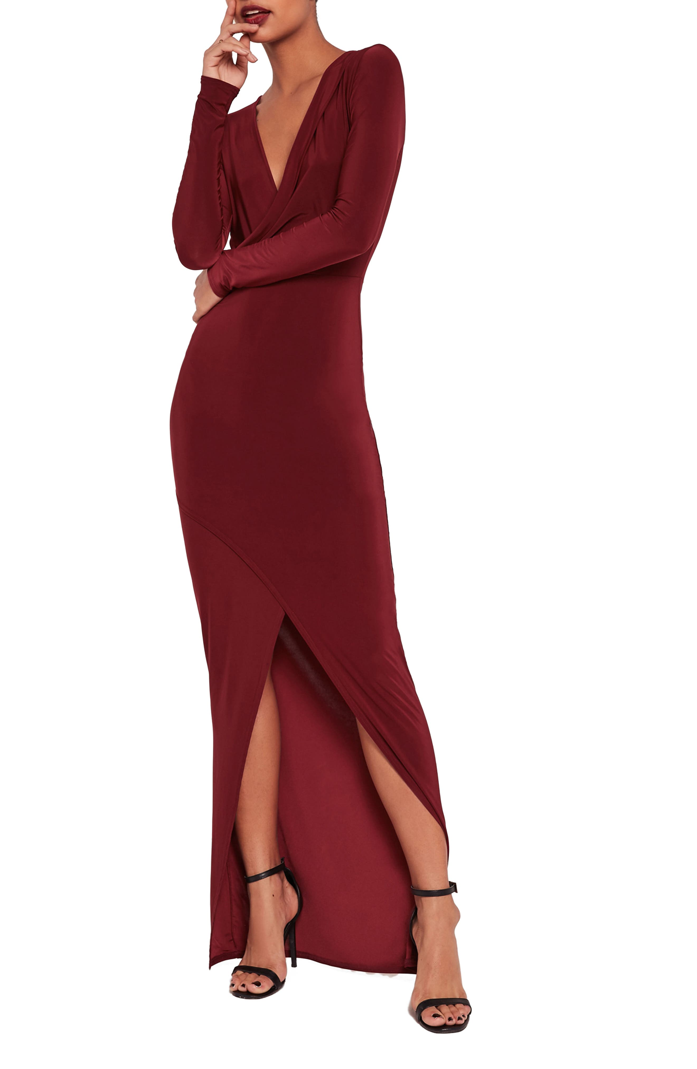 ,                             Wrap Maxi Dress,                             Main thumbnail 1, color,                             600