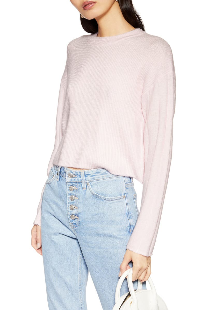 TOPSHOP Crop Sweater, Main, color, 680