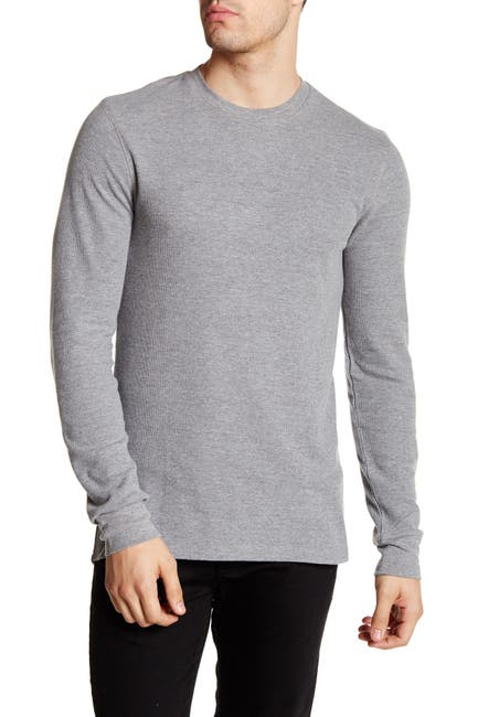 Image of Public Opinion Crew Neck Thermal T-Shirt