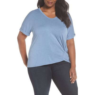 Plus Size Nic+Zoe Boardwalk Tee, Blue