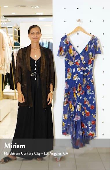 Electra Asymmetrical Ruffle Chiffon Dress, sales video thumbnail