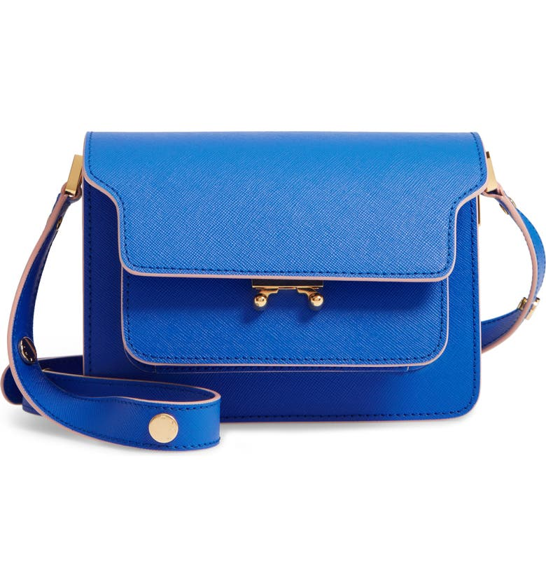 MARNI Small Trunk Leather Shoulder Bag, Main, color, 406