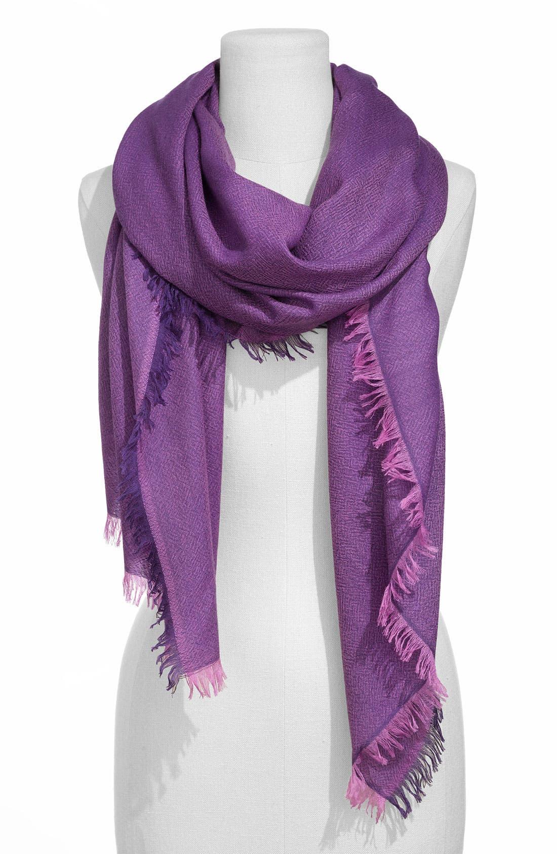 ,                             'Eyelash' Colorblock Cashmere Wrap,                             Main thumbnail 73, color,                             541