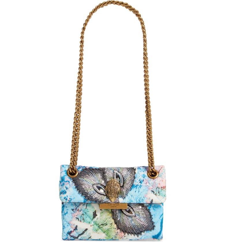 KURT GEIGER LONDON Mini Kensington X Embellished Crossbody Bag, Main, color, BLUE OTHER