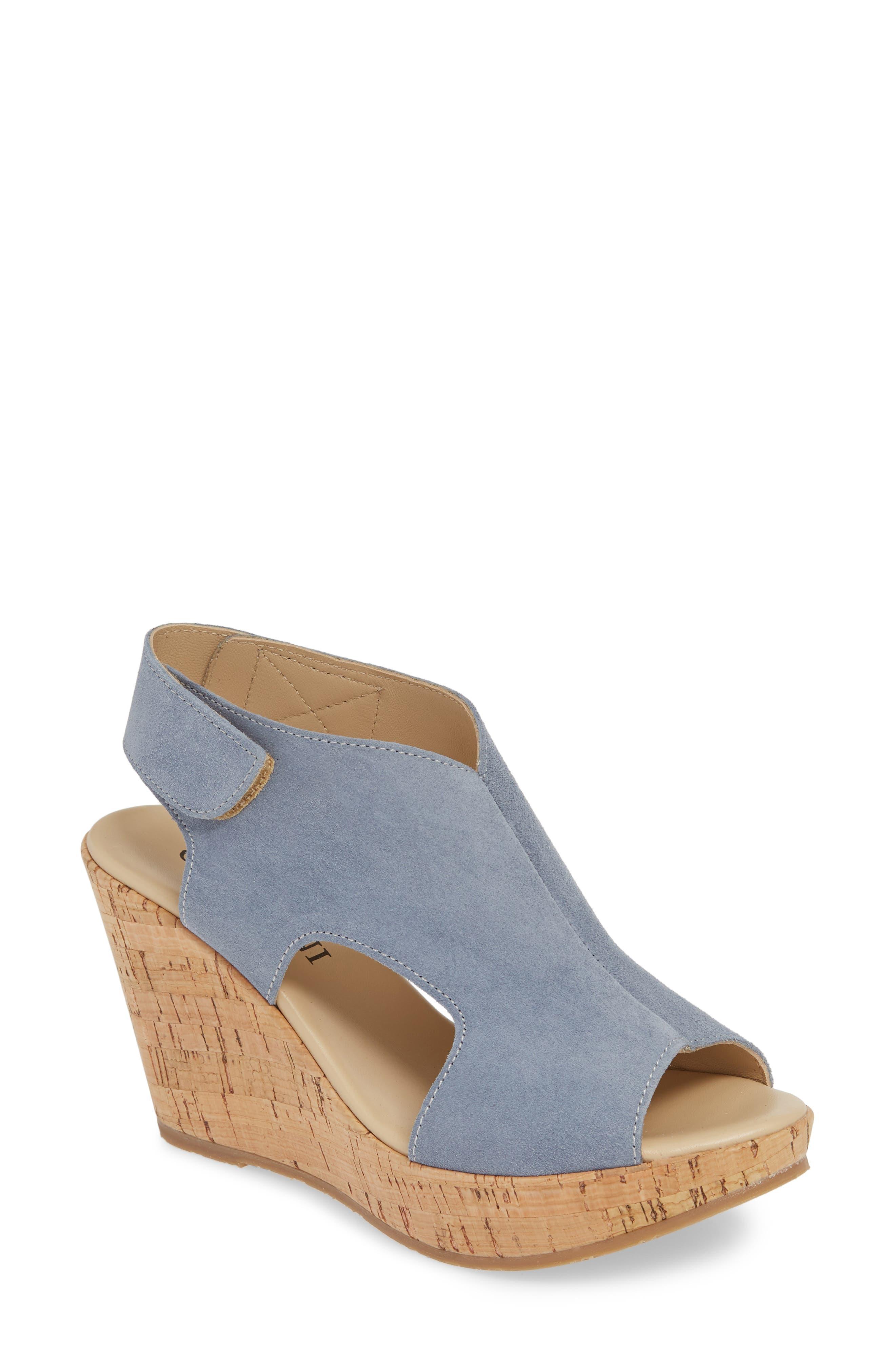 Cordani Reed Wedge Sandal - Blue