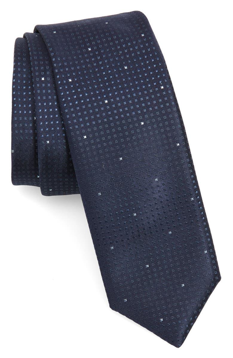 BOSS Geometric Silk Tie, Main, color, 464