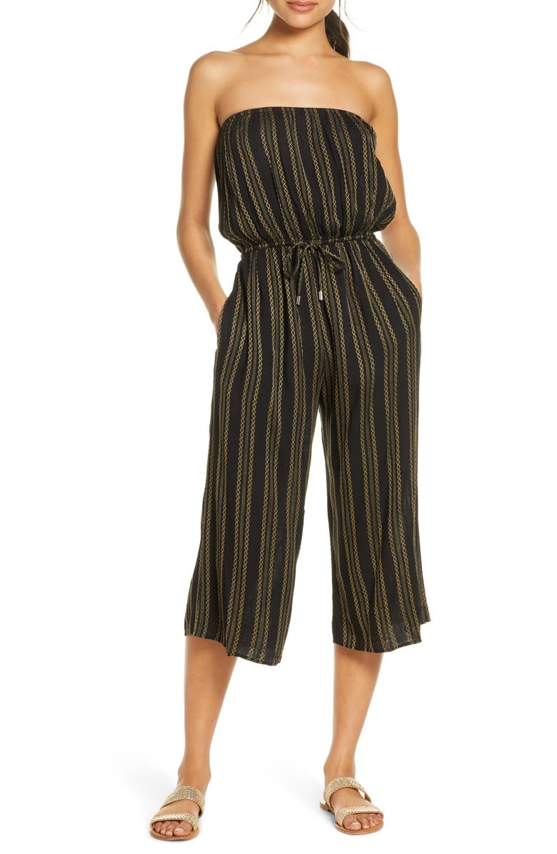 Strapless Cover-Up Culotte Jumpsuit