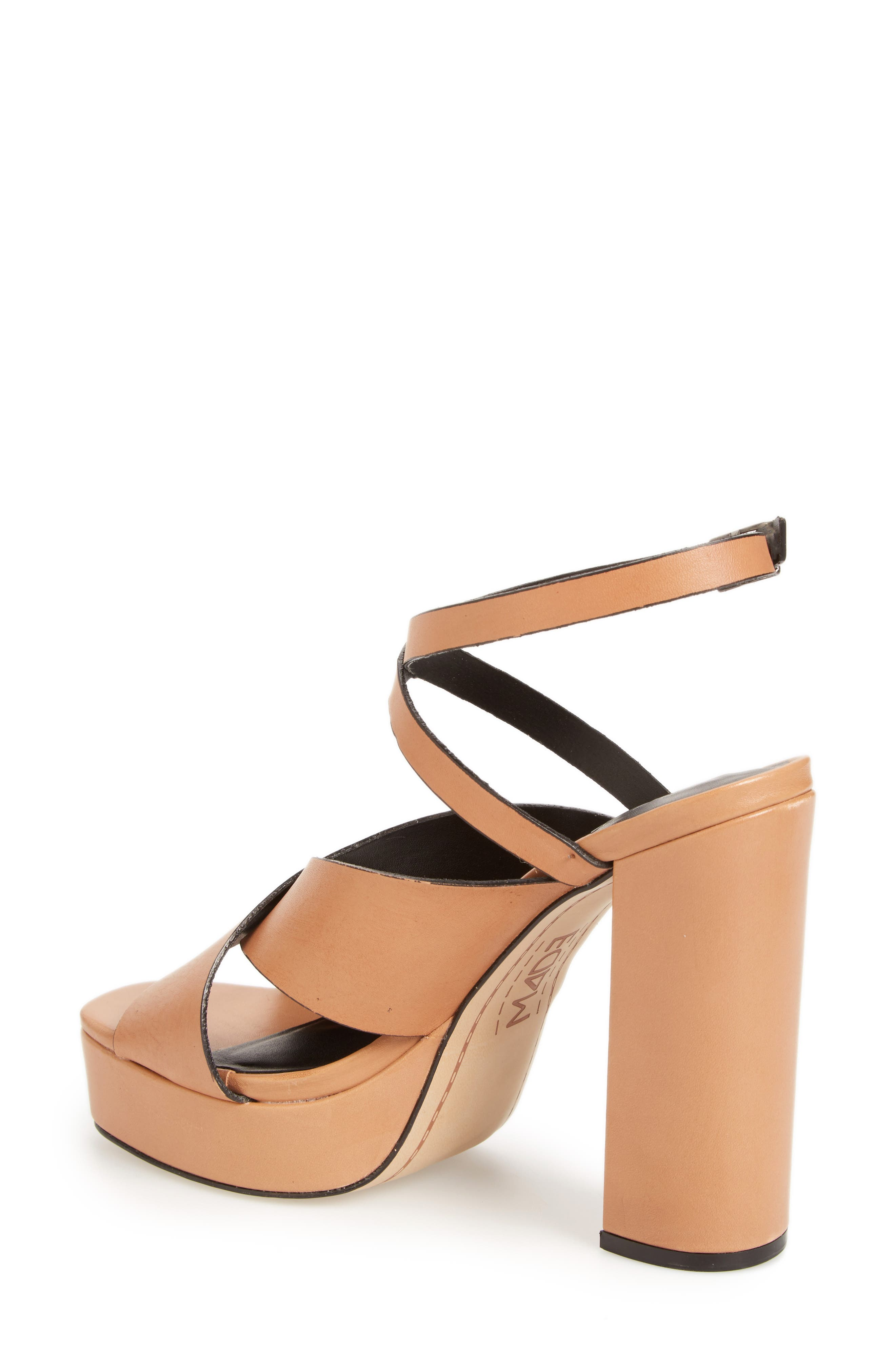 ,                             Priscilla Wraparound Platform Sandal,                             Alternate thumbnail 2, color,                             NUDE