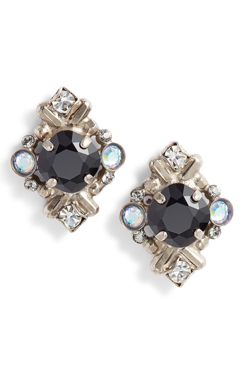 SORRELLI Shielded Crystal Stud Earrings, Main, color, 001