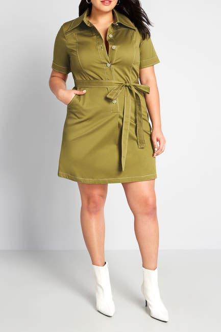 Image of MODCLOTH Belted Shirt Dress