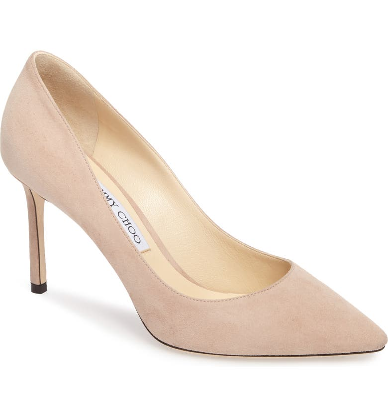 JIMMY CHOO Romy Suede Pump, Main, color, PINK SUEDE