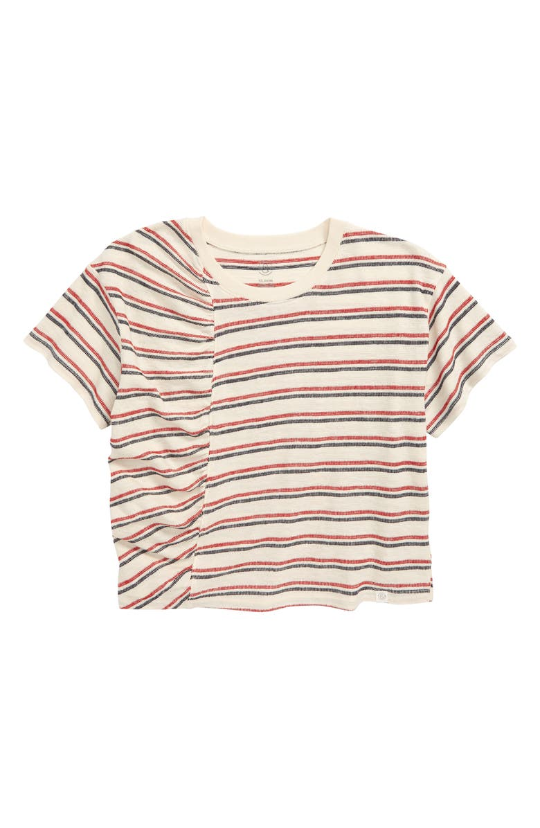 TREASURE & BOND Stripe Crop Top, Main, color, IVORY ANTIQUE STRIPE