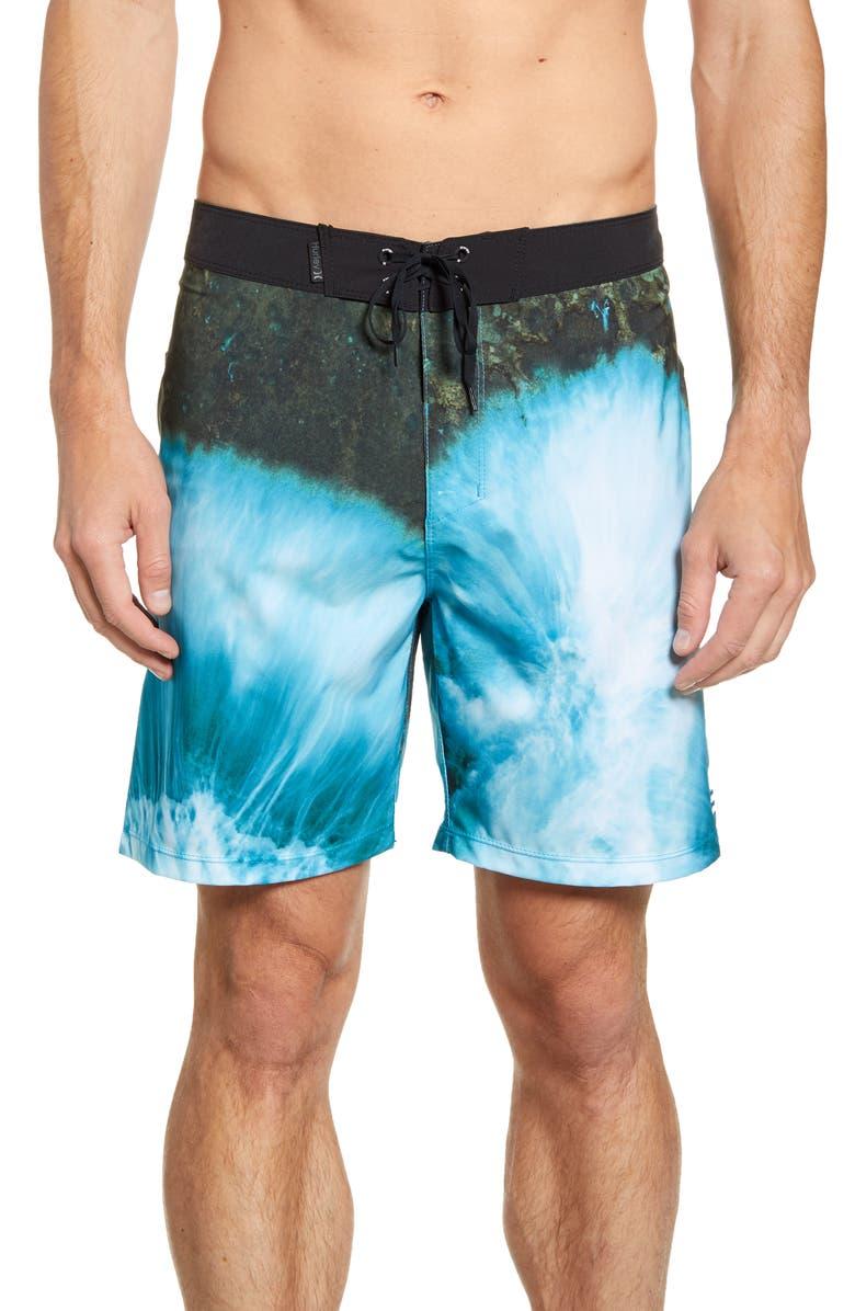 HURLEY Phantom Clark Little Board Shorts, Main, color, BLUE GAZE