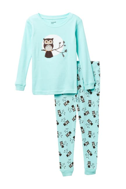 Image of Leveret Two-Piece Owl Pajama