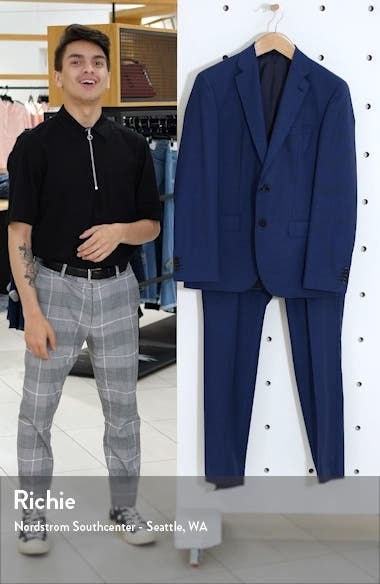 Johnston/Lenon Trim Fit Houndstooth Wool Suit, sales video thumbnail