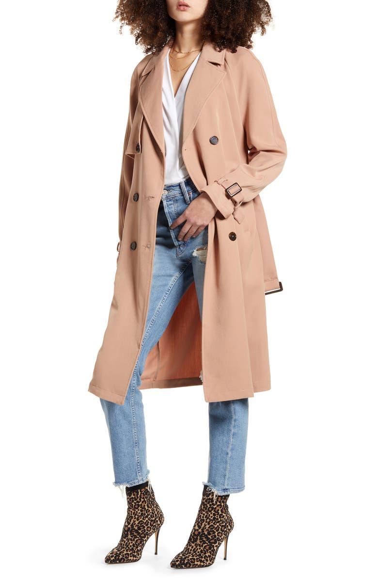 VERO MODA Donna Long Trench Coat, Main, color, 250