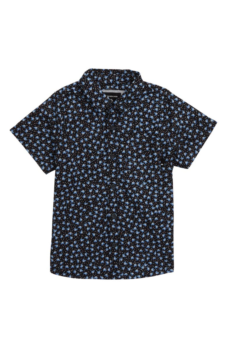 QUIKSILVER Small Fry Woven Shirt, Main, color, BLACK SMALL FRY