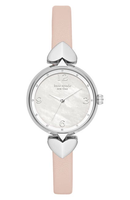 Image of kate spade new york Women's Hollis Leather Strap Watch, 30mm
