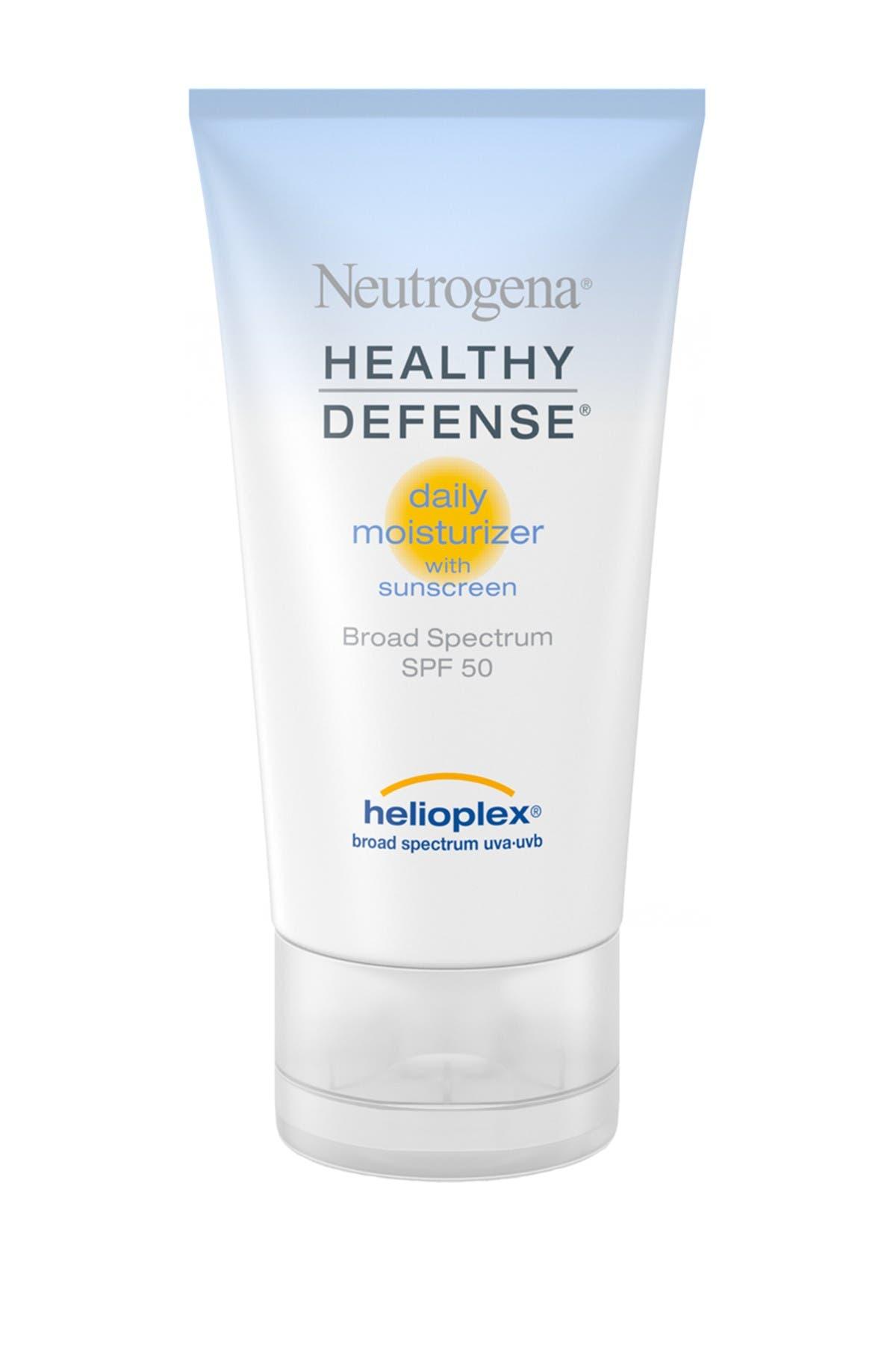 Image of Neutrogena Healthy Defense Daily Moisturizer Broad Spectrum SPF 50 Sunscreen - 1.7 Fl. Oz