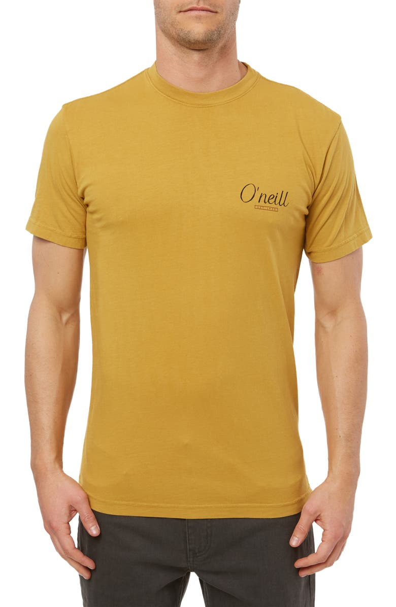 O'NEILL Breaking Out Logo Graphic T-Shirt, Main, color, HARVEST GOLD