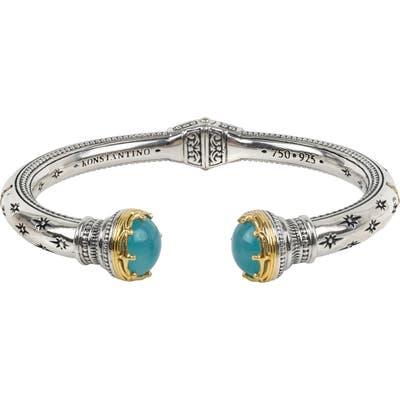Konstantino Astria Sterling Silver & Aquamarine Cuff Bracelet