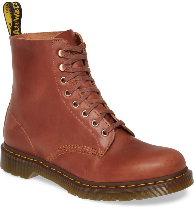 DR. MARTENS Pascal Plain Toe Boot, Main, color, TAN