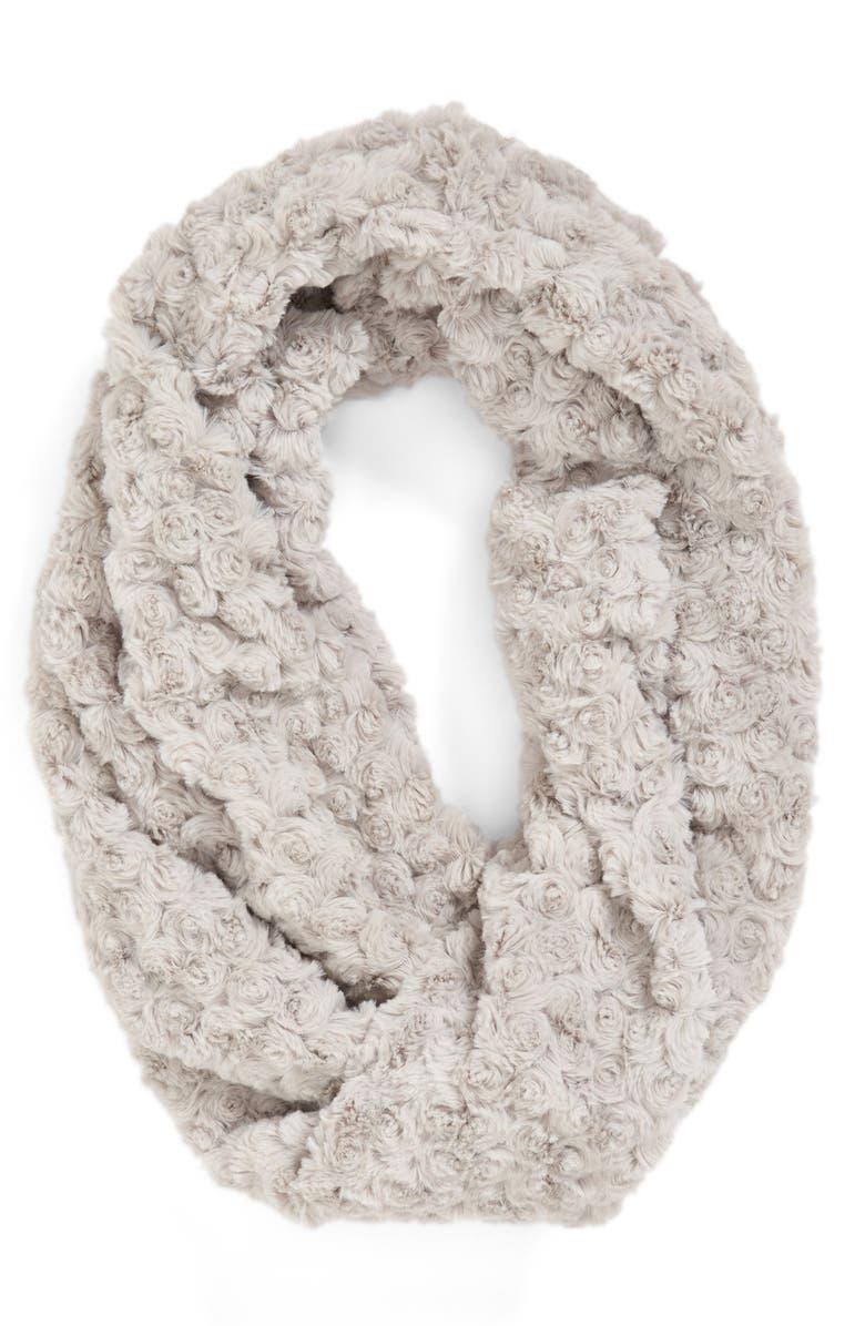 BP. Faux Fur Infinity Scarf, Main, color, 020